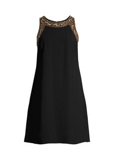 Aidan Mattox Embellished A-Line Dress