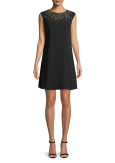 Aidan Mattox Embellished Trapeze Mini Cocktail Dress