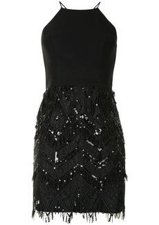 Aidan Mattox geometric embroidery mini dress