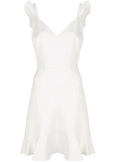 Aidan Mattox ruffled sleeveless dress