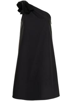 Aidan Mattox satin-bow one shoulder dress