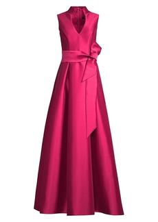 Aidan Mattox Sleeveless Ball Gown