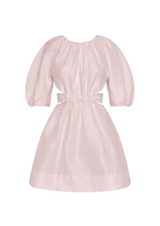 Aje - Women's Psychedelia Cutout Linen-Blend Mini Dress - Pink - Moda Operandi