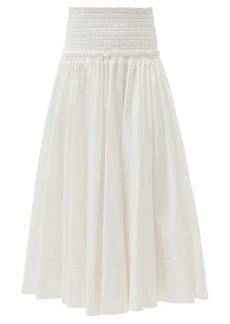 Aje Cascade high-rise cotton skirt