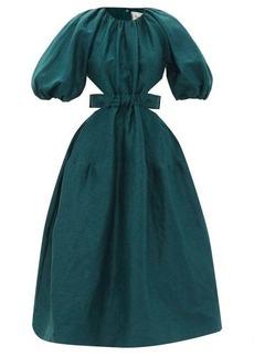 Aje Mimosa puff-sleeve linen-blend midi dress