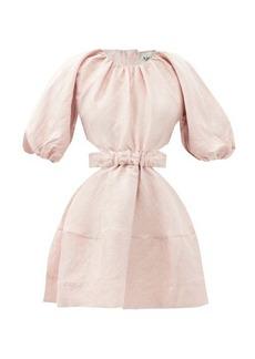 Aje Psychedelia cutout linen-blend mini dress