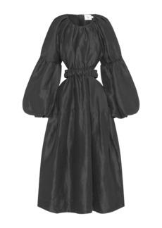 Aje Psychedelia Silk-Linen Midi Dress