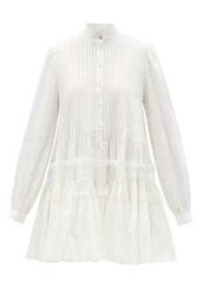 Aje Run Free pintucked cotton mini dress