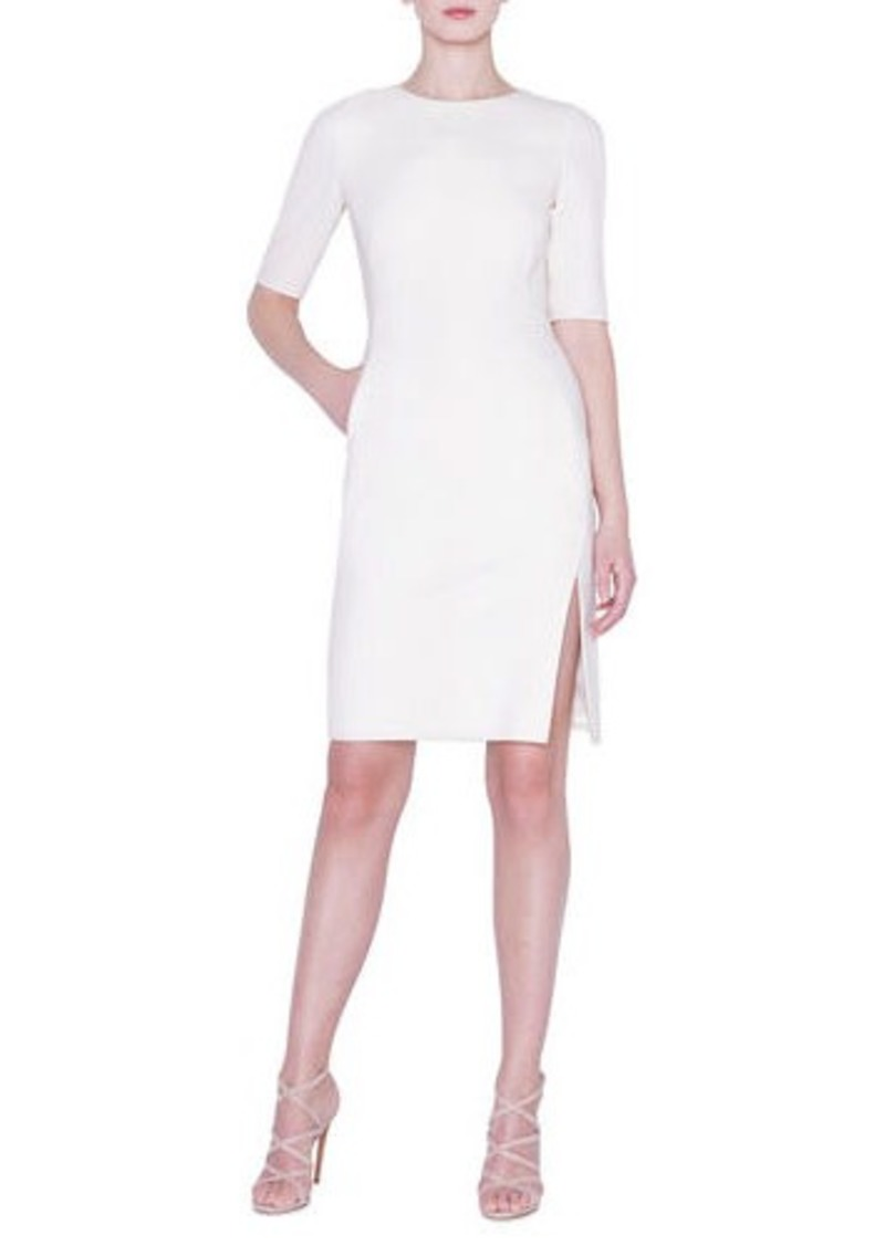 Akris 1/2-Sleeve Double-Face Crepe Sheath Dress