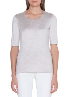 Akris 1/2-Sleeve Silk-Jersey T-Shirt