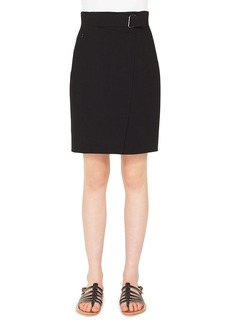 Akris A-Line Wool Crepe Mini Skirt