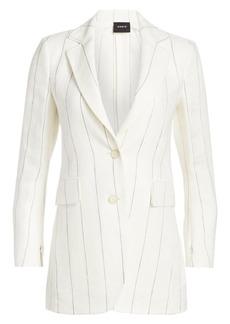 Akris Abiqui Linen Pinstripe Jacket