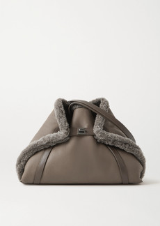 Akris Ai Medium Convertible Reversible Shearling Tote