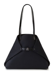 Akris Ai Medium Techno Fabric Shoulder Bag  Black