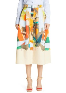 Akris Abstract Flare Skirt