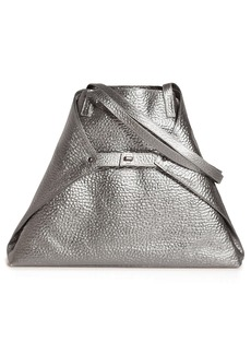 Akris AI Medium Hammered Metallic Leather Tote Bag