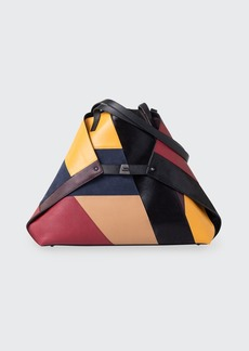 Akris Ai Medium Multicolored Patchwork Tote Bag