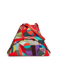 Akris Ai Medium Painted Colorblock Shoulder Bag