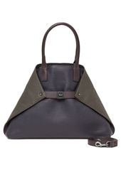 Akris 'AI Small Messenger' Tricolor Leather Tote