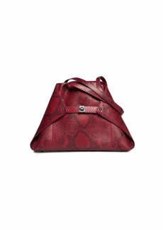 Akris Ai Small Python Shoulder Tote Bag