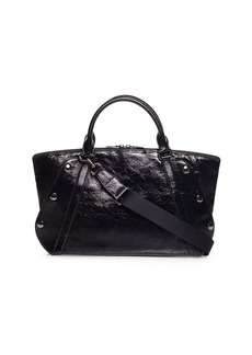 Akris Aimee Crinkled Patent Satchel Bag