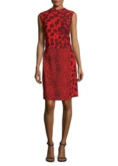 Akris Animal Print Shift Dress