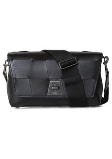 Akris Anouk Braided Trapezoid Leather Crossbody Bag