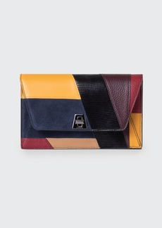 Akris Anouk Orphisme Patchwork Chain Clutch Bag