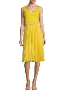 Akris Belted Tulip Dress