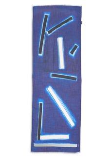 Akris Blue Angel Cashmere Silk Scarf
