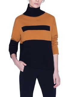 Akris Boxy Bicolor Turtleneck Sweater