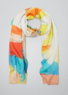 Akris Brushstroke Print Cashmere-Silk Scarf