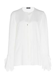 Akris Button-Down Silk Blouse