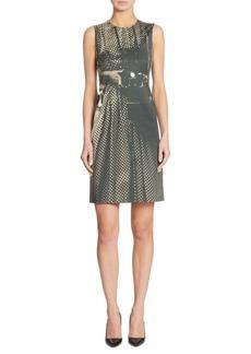Akris Camera Print Sheath Dress