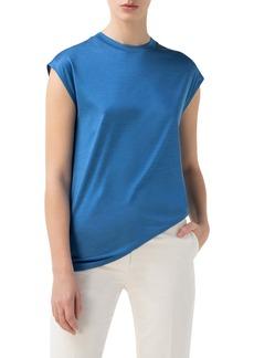 Akris Cap Sleeve Silk Jersey T-Shirt
