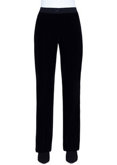 Akris Carl Velvet Straight-Leg Pants