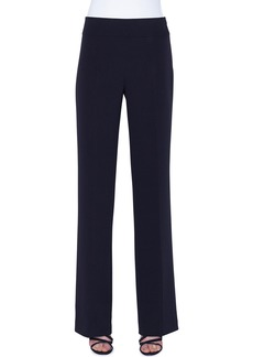 Akris Carla Silk-Crepe Straight-Leg Pants