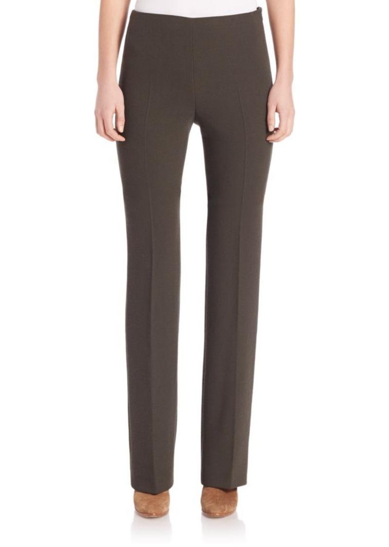 Akris Carole Double-Face Wool Crepe Pants