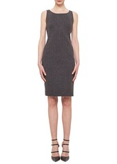 Akris Cashmere-Blend Herringbone Sheath Dress