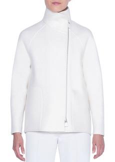 Akris Cashmere-Boucle Raglan-Sleeve Sweater