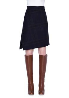 Akris Cashmere Plaid Double-Face Skirt