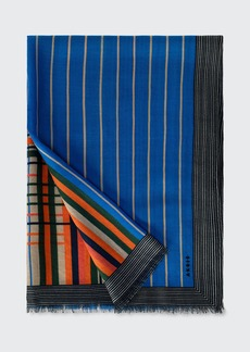Akris Cashmere-Silk Printed Scarf