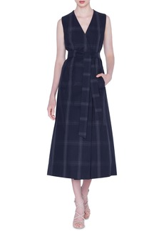 Akris Check Cotton Poplin Midi Dress & Bolero