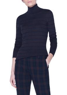 Akris Check Rib Silk Sweater