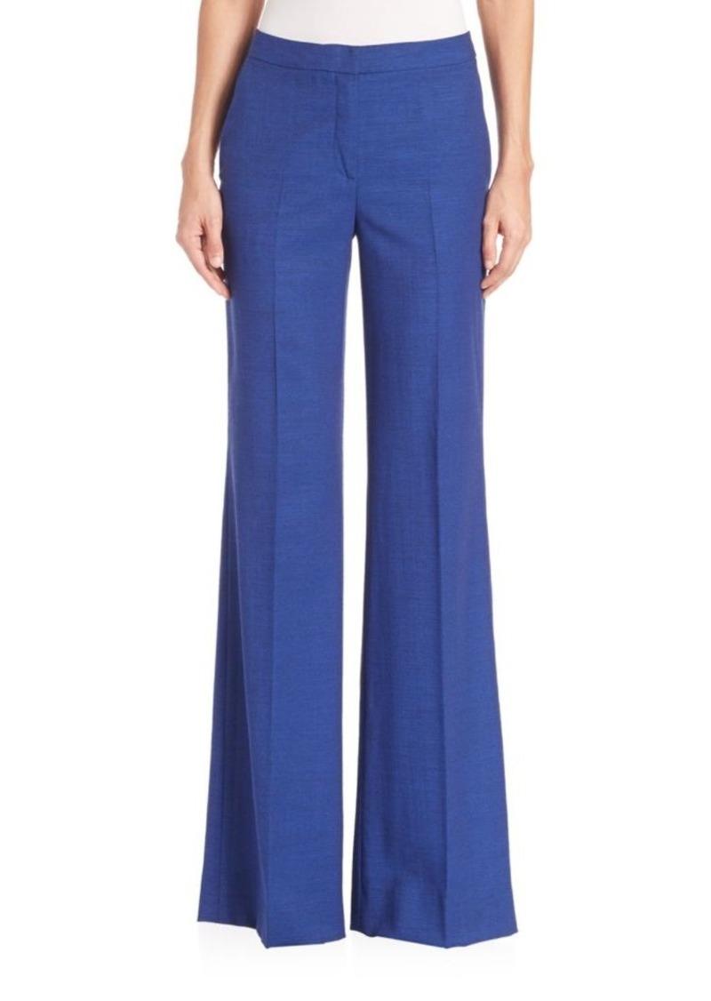 Akris Christa Cool Wool Wide Leg Pants
