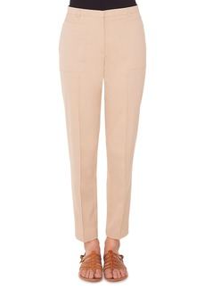 Akris Colin Straight-Leg Cotton-Silk Gabardine Pants