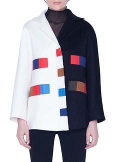 Akris Colorama Bicolor Double Face Cashmere Jacket