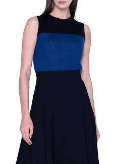 Akris Colorblock Cashmere & Silk Shell