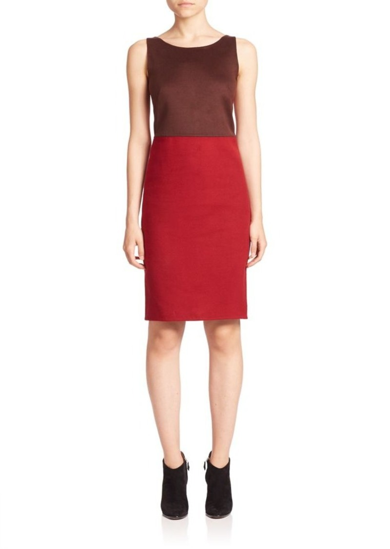 Akris Colorblock Reversible Silk Sheath Dress