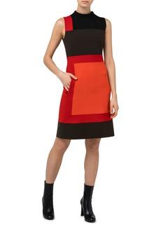 Akris Colorblock Sleeveless Wool Dress